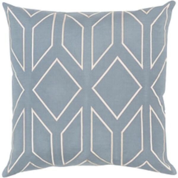 "20"" Diamond Bliss Weldon Blue and Cosmic Latte Decorative Throw Pillow"