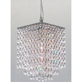 Swarovski Crystal Trimmed Modern Contemporary Crystal Pendant Chandelier