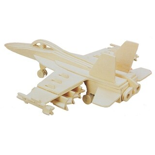 3D Woodcraft DIY Hornet Bomber Design Wooden Puzzle Toy