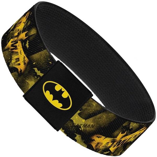 Justice League Batman Bats Scattered Black Yellows Elastic Bracelet