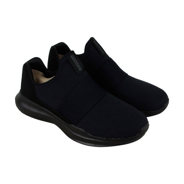 Skechers Gorun Mojo Mania Mens Black Mesh Athletic Slip On Running Shoes