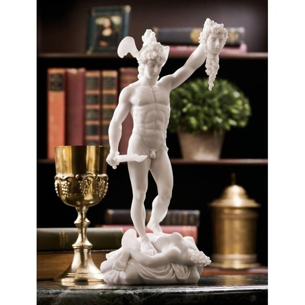 Design Toscano Perseus Beheading Medusa Bonded Marble Statue