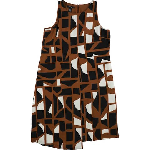 Alfani Womens Asymmetrical Hem Shift Dress