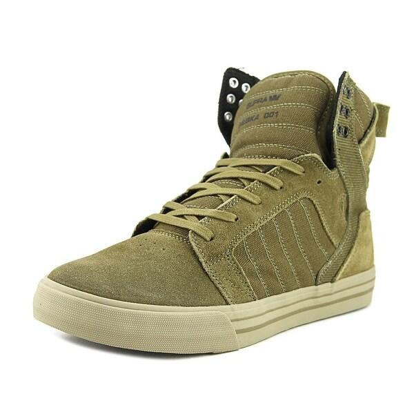 Supra Skytop Men Round Toe Suede Green Skate Shoe