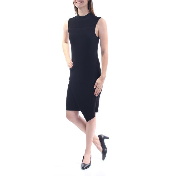 855ccda5 Shop BAR III Womens Black Turtle Neck Below The Knee Trapeze Dress Size: 2XS  - On Sale - Free Shipping On Orders Over $45 - Overstock - 21350178