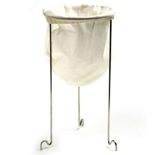 Link to Norpro Jelly Strainer Set - Stainless Steel Frame Stand with Reusable Cotton Bag - Silver/White Similar Items in Kitchen Storage