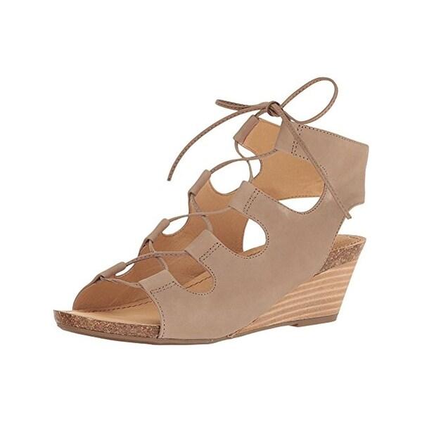 Adam Tucker Me Too Womens Tami 8 Wedge Sandals Nubuck Cork