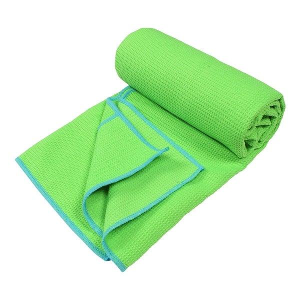 Yoga Mat Towel Sports Direct: Shop Waffle Pattern Anti-slip Sweat Absorbent Pilates Yoga