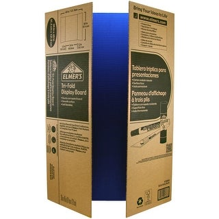 "Elmer's Tri-Board Self-Standing Project Display Board 36""X48-Blue Box=25, Srp $5.99Ea"