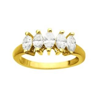 1 ct 5-Stone Diamond Ring in 14K Gold