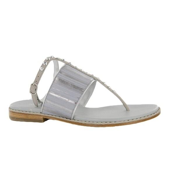 DONALD PLINER Womens LACYSP Sandal Sz 6.5 Silver/Metallic Streak 230485E