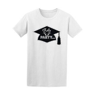 Graduation Cap Let's Party Tee Men's -Image by Shutterstock