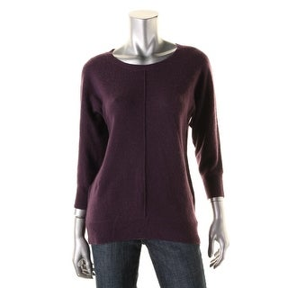 Private Label Womens Cashmere Ribbed Trim Pullover Sweater