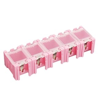 Unique Bargains Pink Storage Plastic Boxes for Electronic Components
