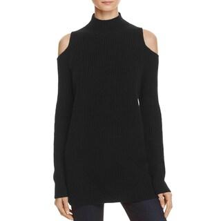 Zoe Jordan Womens Pullover Sweater Cashmere Blend Open Shoulder - S/M