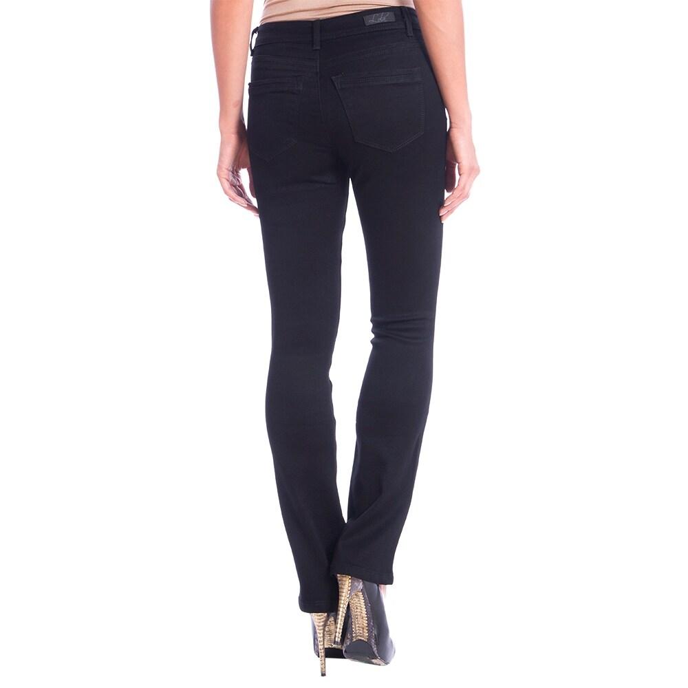 Lola Classic Bootcut Jeans, Lauren-BLK - Thumbnail 1