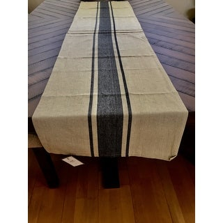 Classic Banded Stripe Pattern Cotton Table Runner