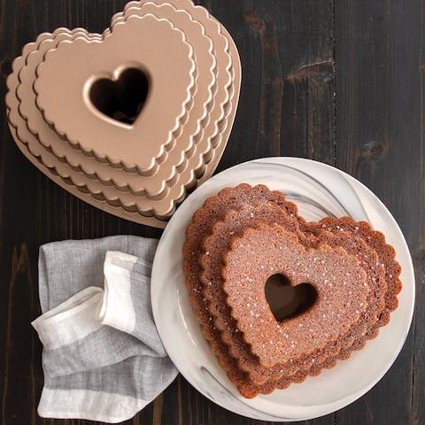 Nordic Ware Tiered Heart Bundt Pan