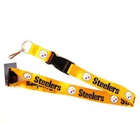 Steelers Gold Clip Lanyard Keychain Id Ticket - Gold