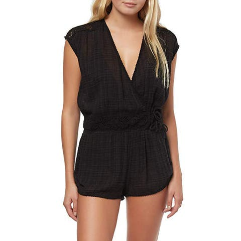 O'NEILL Salt Water Solids Romper, Black, LG (US 9-11)