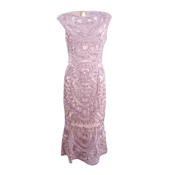 16c75760fed Shop JS Collections Women s Embroidered Soutache Midi Dress - Free ...