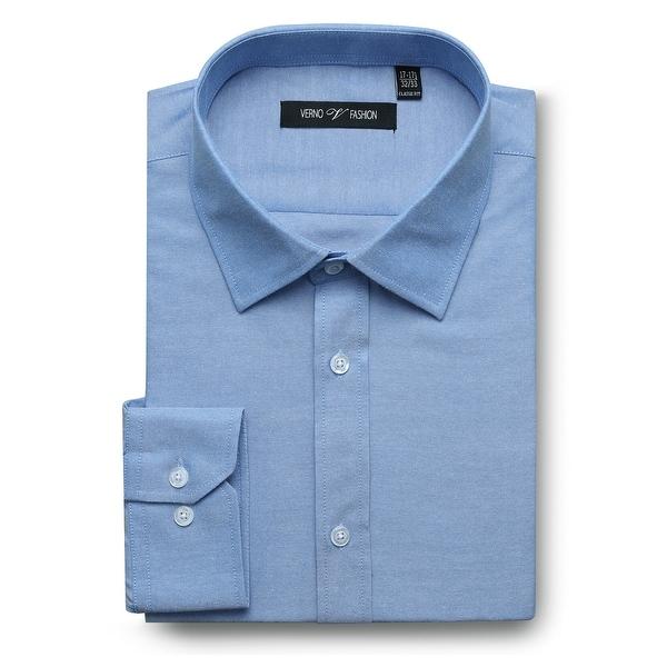 Men's Regular Fit Performance Oxford Business Casual Dress Shirt