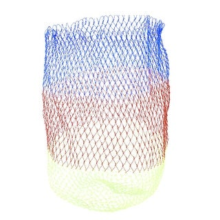 "Unique Bargains 11.8"" x 15"" Portable Fishing Landing Net Fish Angler Mesh for Fishermen String Red Blue Yellow Green"