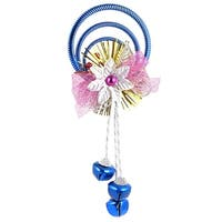 Unique Bargains Plastic Rings Metal Bell Pendant Dark Blue for Indoor Xmas Trees Ornament