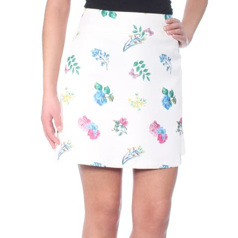 ENDLESS ROSE Womens Ivory Floral Above The Knee Pencil Skirt Size: S