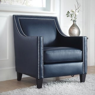 Link to Copper Grove Rab Leather Nailhead Armchair Similar Items in As Is