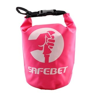 SAFEBET Authorized Water Resistant Bag Roll Top Dry Sack Pink 2L for Rafting