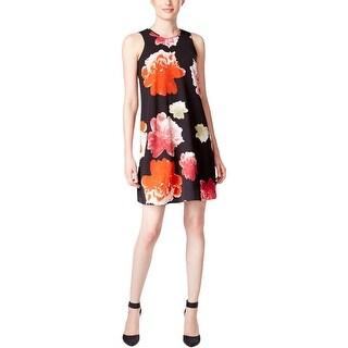 Calvin Klein Womens Petites Casual Dress Chiffon Floral Print
