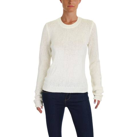 Theory Womens Yulia Pullover Sweater Merino Wool Summer Boucle