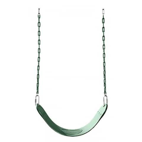 "Swing-N-Slide NE-4518S Curved Oval Design Sling Style Swing Seat, 27"", Green - 27"""