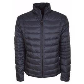 NEW BOSS Hugo Boss Men's $595 Blue Quilted Down Puffer Jacket 38 48