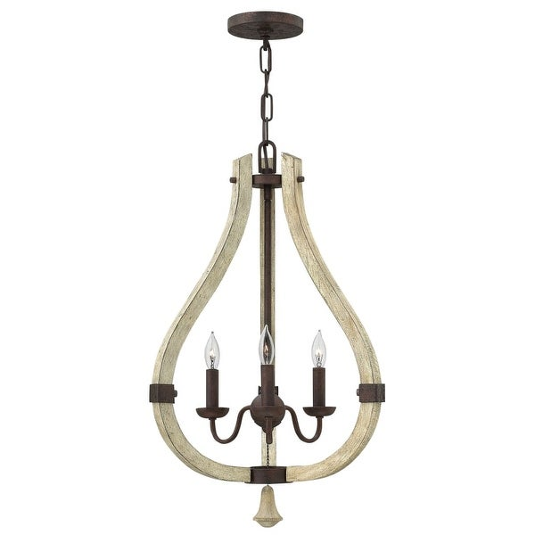 Fredrick Ramond FR40573 3 Light Candle Style Pendant from the Middlefield Collection - iron rust