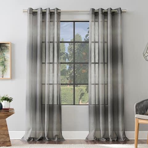 Scott Living Atlantic Ombre Open Weave Sheer Grommet Curtain Panel