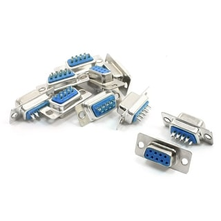 10 Pcs Solder Type DB9 9 Pin Female Cable Plug Connector for LCD