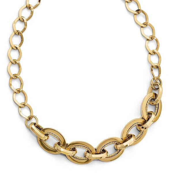 Italian 14k Gold Polished Necklace - 18 inches