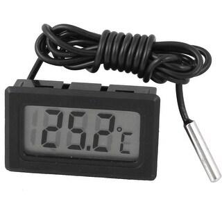 Compact LCD Digital Display Black Thermometer Temperature Sensor