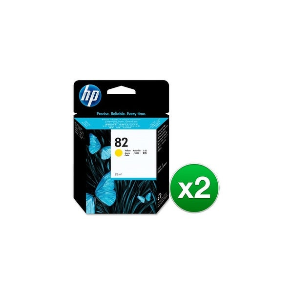 HP 82 28-ml Yellow DesignJet Ink Cartridge (CH568A)(2-Pack)