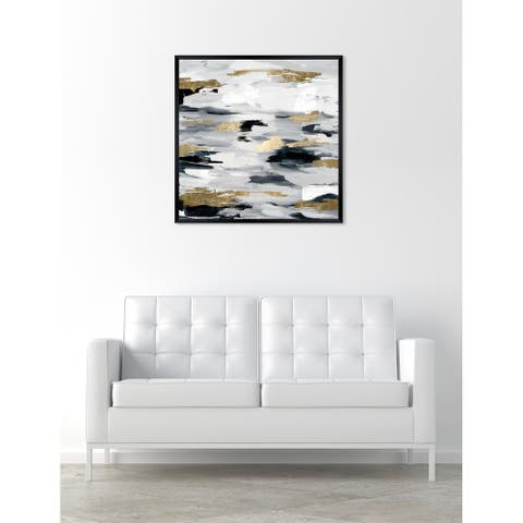 Oliver Gal 'Smoke On The Water Night' Abstract Framed Wall Art Print