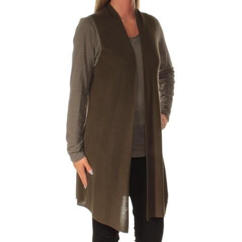 EILEEN FISHER $258 Womens New 1196 Green Sleeveless Sweater S Petites B+B