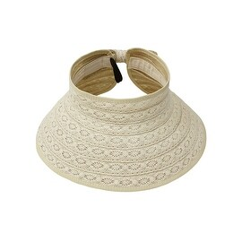 Lace Roll Up Straw Packable Hat