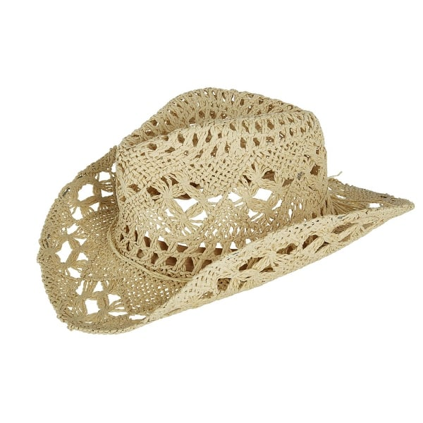 44807e27aa9 Shop Jeanne Simmons Kids  Paper Woven Western Hat - Free Shipping On ...