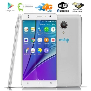"Indigi 5"" Android 6.0 QuadCore 4G LTE GPS Smartphone AT&T T-Mobile Straight Talk - White"