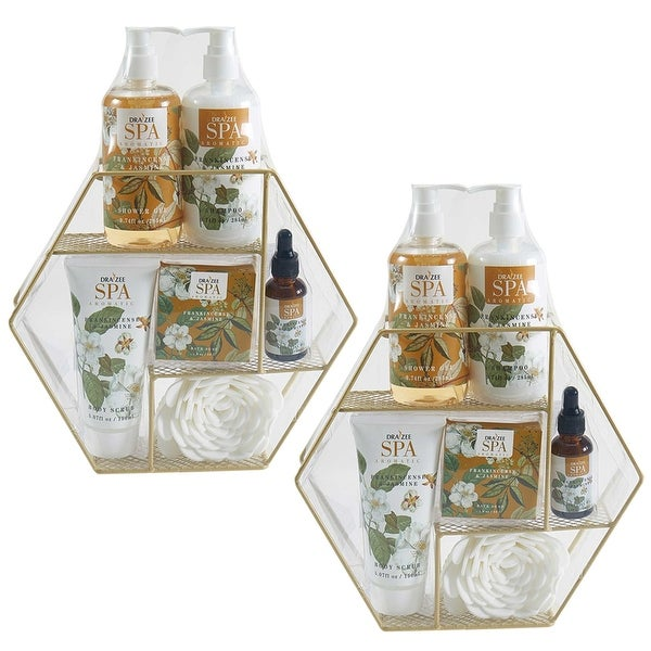 (2 Set) Draizee Bath Gift Set for Girls Women with Refreshing Frankincense & Jasmine Fragrance - 7 Pieces Luxury Skin Care Set. Opens flyout.