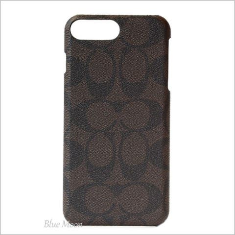 Coach Signature Coated Canvas Phone Case for iPhone 8 Plus/iPhone 7 Plus, Mahogany