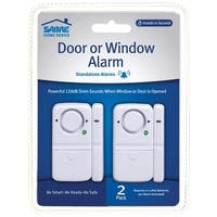 Sabre HS-DWA2 Wireless Door And Window Alarm, Plastic, White