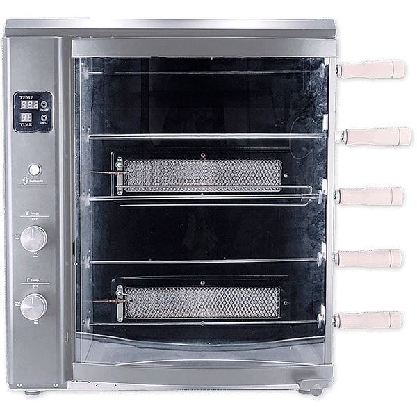 Brazilian Flame Brazilian Gas Rotisserie Grill with 5 Skewers, Silver. Opens flyout.